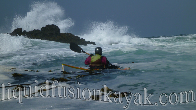 sea kayak rock gardening on the mendocino coast