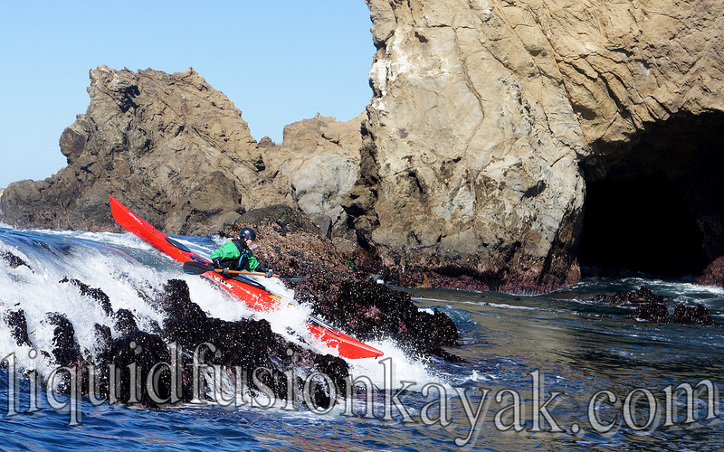 sea kayak, rock garden, valley gemini, mendocino coast