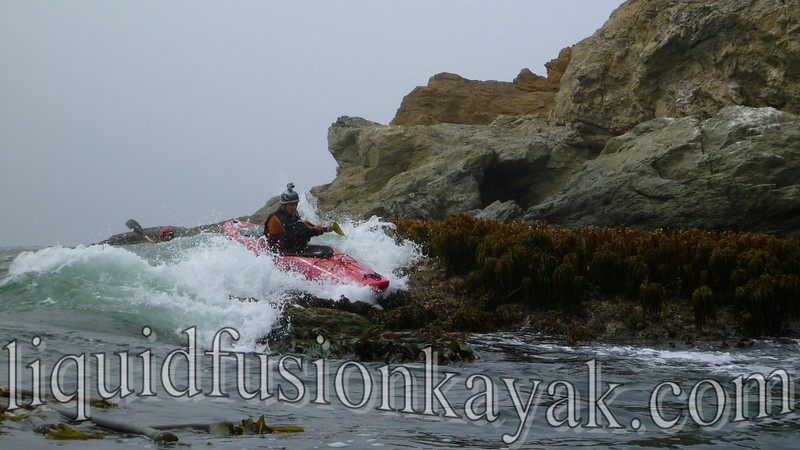 Whitewater kayaking ocean rock gardens mendocino