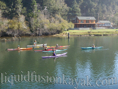 "Ocean Kayaks on the Noyo River, Fort Bragg with Brent Reitz and his ""Forward Stroke Clinic"""