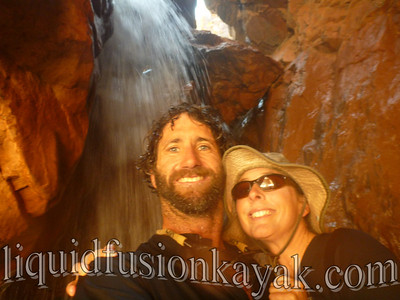 Behind the waterfall  . . . another.