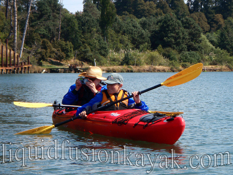 family kayak wildlife watching tour