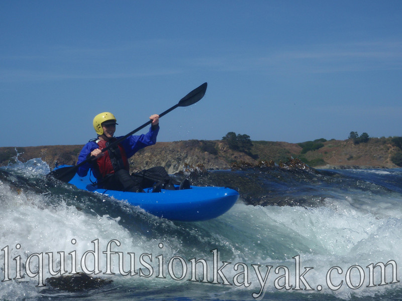 kayak, mendocino, rock garden, fort bragg, wave, surf