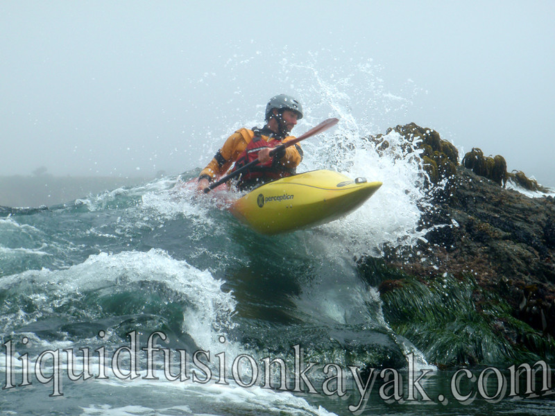 Mendocino kayaking rock gardens