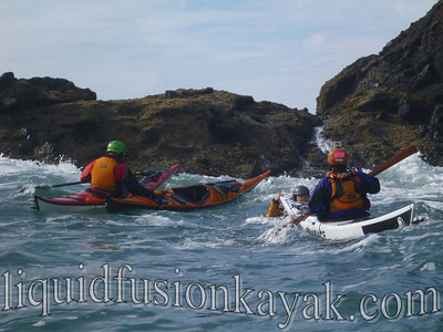 Sea kayak rock garden rescue class
