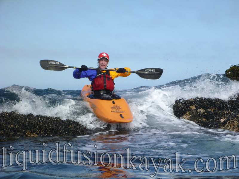 whitewater kayak rock gardening mendocino