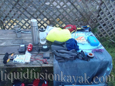 Sea kayak emergency preparation kit