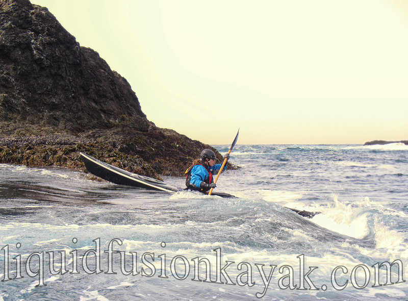 sea kayak, rock gardening, mendocino, valley, gemini