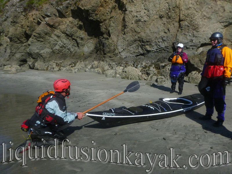 sea kayak, mendocino, class, lesson, surf, instruction