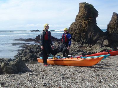 Mendocino sea kayaking.