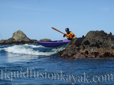Mendocino sea kayak rock gardening.