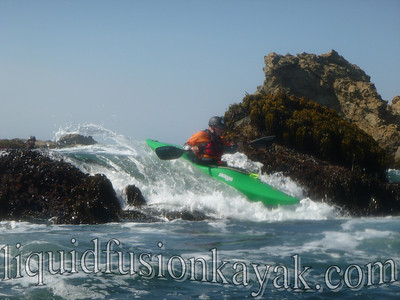 whitewater kayak rock gardening near Mendocino