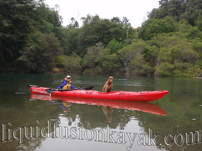 Aften's first kayak trip on Fort Bragg's Noyo River