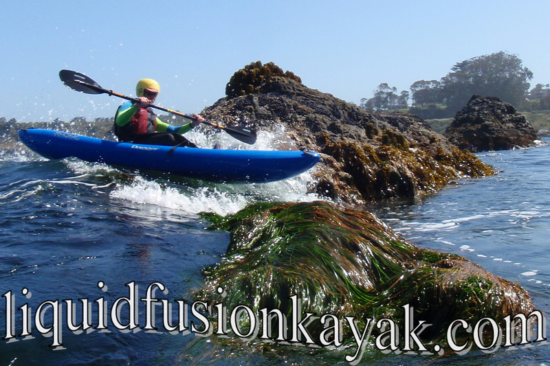 Mendocino Coast kayaking rocks adventure in Fort Bragg's Noyo Bay.