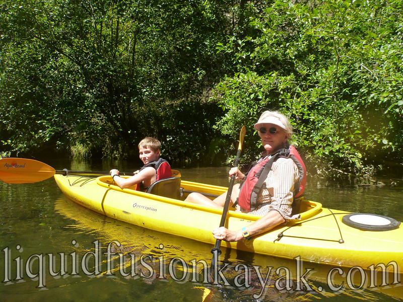kayaking on the noyo river in fort bragg