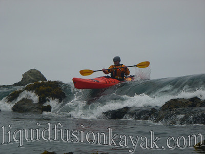 Sea kayak rock gardening on Mendocino Coast